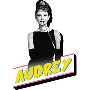 Funky chunky AUDREY BREAKFAST magnet