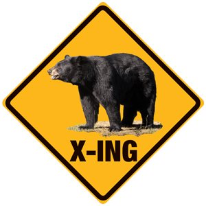 Enseigne relief Black Bear X-ing**