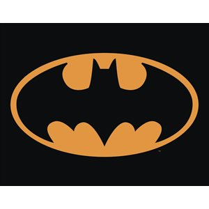 Batman logo metal sign