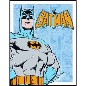 Batman retro blue metal sign