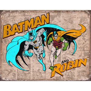 Batman and Robin 16x12 Metal Sign