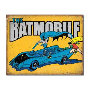 Enseigne metal Batmobile