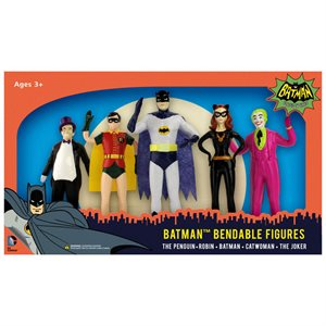 Boite 5 Figurines Batman Flexibles