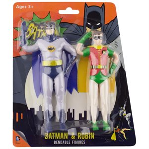 Figurine Batman & Robin flexible