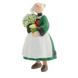 Figurine Becassine et le bouquet