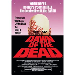 Dawn of the dead 8x12 metal sign