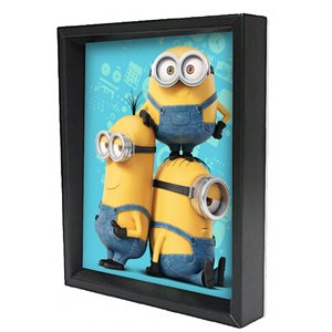 Shadow box 3D - Minions trio