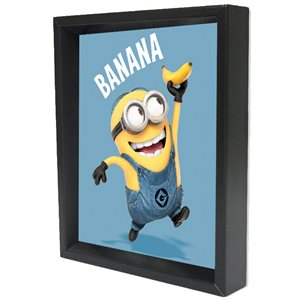 Shadow box 3D - Minion banana