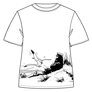 T-shirt Plage S