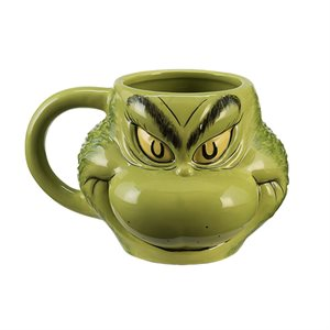 The Grinch sculpted ceramic mug