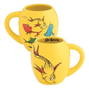 dr seuss one fish 18oz Oval mug