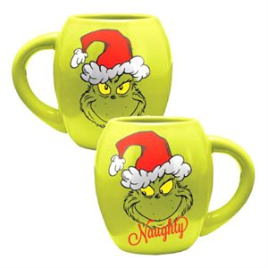 18 oz The Grinch Naughty Nice mug
