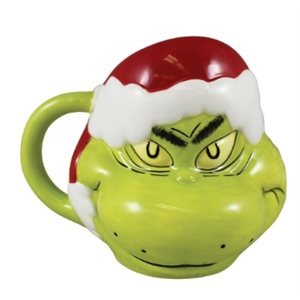 16oz Christmas Grinch oval mug