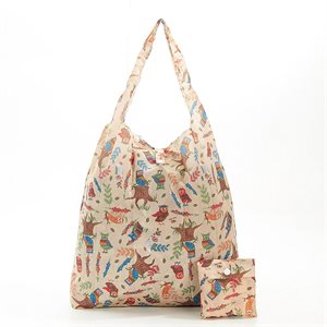 sac magasinage beige hibou