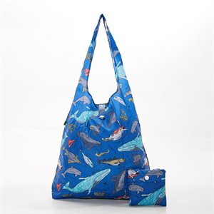 sac magasinage bleu creatures marines