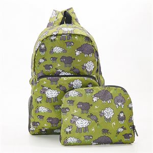 green sheep backpack