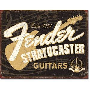 Fender Stratocaster 60th Metal Sign