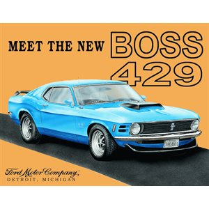 Enseigne metal Ford Mustang BOSS