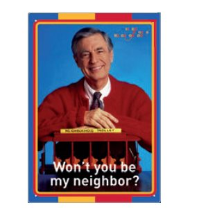 Enseigne metal 8x12 Mister Rogers