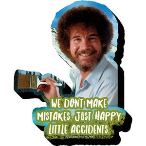 Aimant BOB ROSS HAPPY LITTLE ACCIDENTS