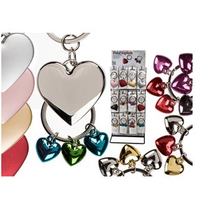 Assorted heart keychains D / 60
