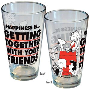 Verre 16oz happiness is friends**