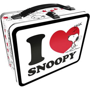 Boite A Lunch Metal I LOVE SNOOPY