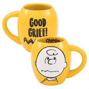 Mug cer. oval 18 oz Charlie Brown
