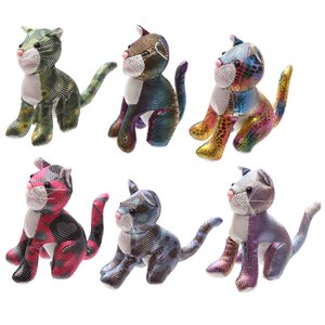 Peluches chats brillantes