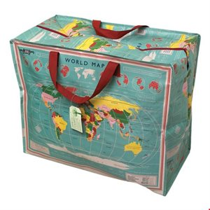 world map jumbo storage bag