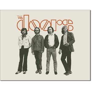 Enseigne Metal The Doors-band 12x16