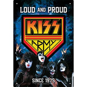 Enseigne metal KISS Army 8x12