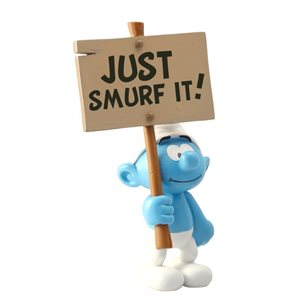 Smurf with sign Figurine
