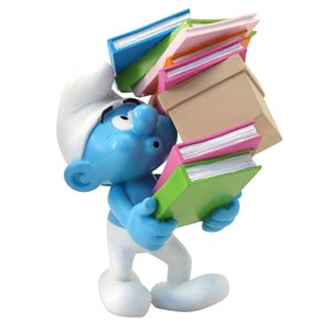 Smurf with books Figurine