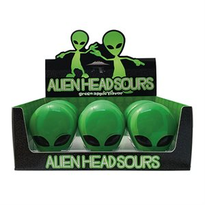 Alien head candy disp / 12