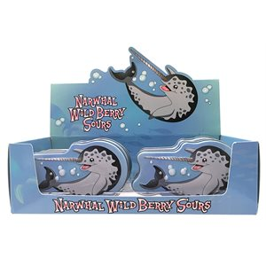 Narwhal berry sours candy disp / 12